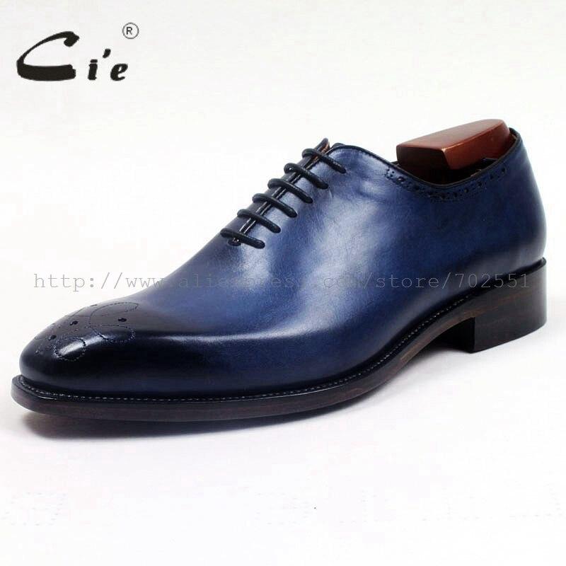 Cie ساحة تو اليدوية كله قطع الدانتيل متابعة رسمت باليد العجل جلد طبيعي تسولي تنفس الرجال اللباس أوكسفورد الأزرق ShoeOX512-في أحذية رسمية من أحذية على  مجموعة 2
