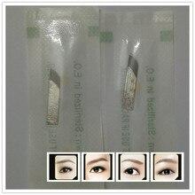 50 PCS Lead-free Permanent Makeup Manual Eyebrow Tattoo Bevel Blades 17 Needles