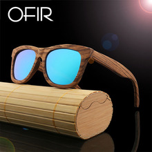 OFIR Brand New Sunglasses Fashionable Restore Ancient Ways Natural Protection Man Bamboo Wood Polarized Sun Glasses Oval BA78