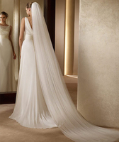 Don S Bridal Hot Sale Simple Bride Veils With Comb Elegant 2 Layer 3 Meters Wedding