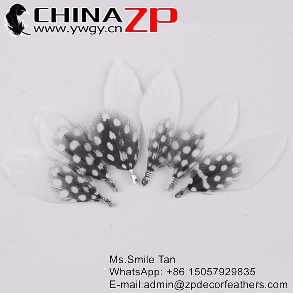 White craft feathers bulk - Chinazp Feathers 100 Pcs Lot New Design Craft Decoration White Duck Feathers Mix Polka Dot