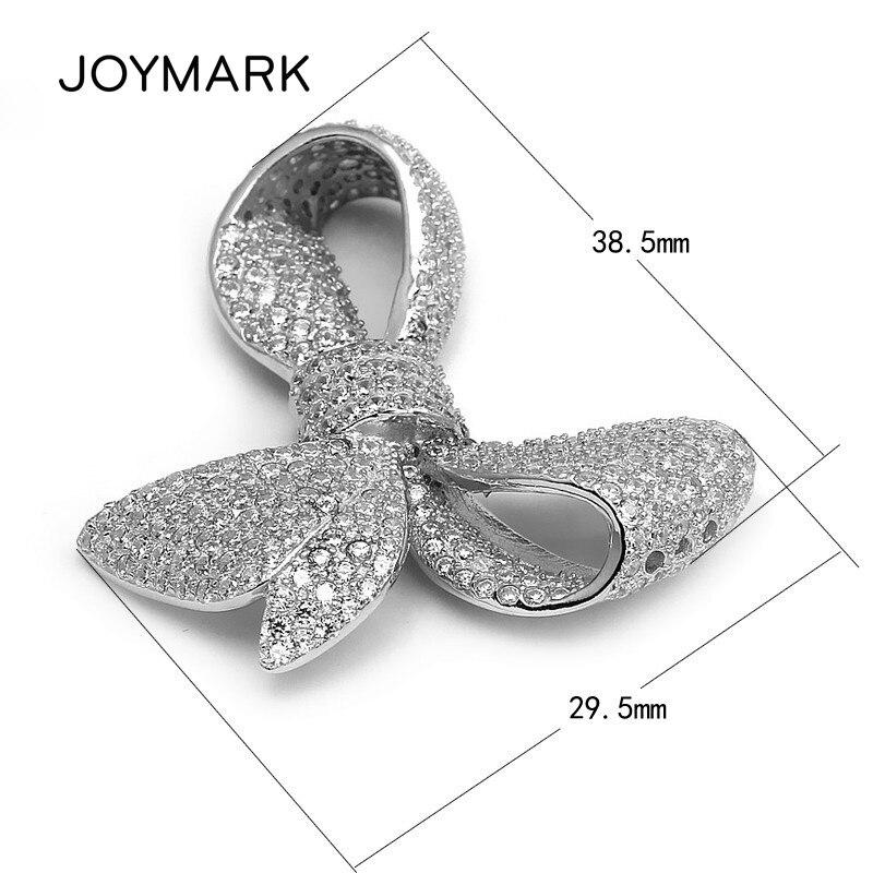 JOYMARK haute qualité bijoux accessoire 925 argent Sterling Zircon Micro Pave rosette breloque connecteurs pendentif SLJQ-CZ014
