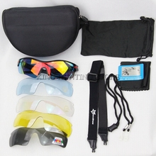 Tactical Glasses With 5 Lens Military Goggles Army Polarized Plastic Glasses Out