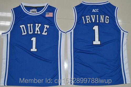 Cheap Kyrie Irving Basketball Jerseys 1# Duke University Blue Devils High Quality Throwback Stitched Commemorative Retro Shirts