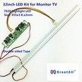 32 polegada 7020 Placa De Alumínio LED Strip Kit de Atualização Lâmpadas para Monitor de TV LCD Painel Backlight 2 LED Tiras 355mm