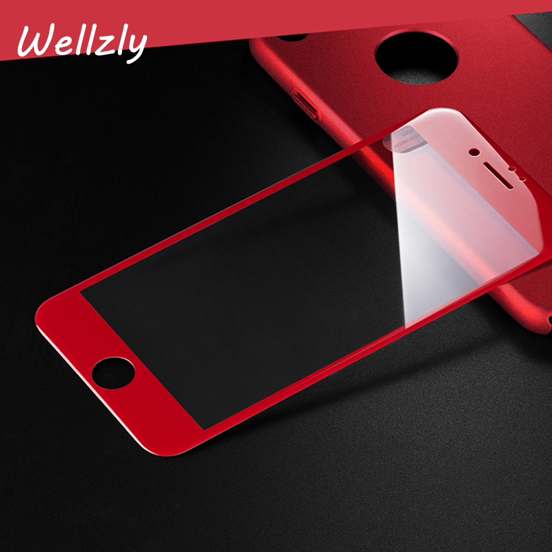 Wellzly 3D Full Cover Screen Protector For iPhone 7 Anti-Scratch 9H Tempered Glass For iphone7plus Protective Film B18