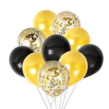 METABLE 50PCS Black and Gold Confetti Balloons Party Decorations for Birthday Congrats Graduation Wedding,no ribbon