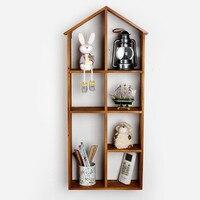 Hot Home Decor Vintage Wall Shelf Bookcase Hanger Creative Furnishing Articles Decorations Kitchen Storage Shelfs