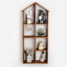 Горячая! Home Decor Старинные Настенные Полки Книжный Шкаф/Вешалка Творческий Статьи обеспечения Украшения Кухня Хранения Полки