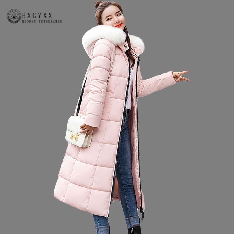 d0c9028df1c Winter Jacket Women Long Parka Female Fake Fur Collar Hooded Quilted Coat  Warm Thick Plus SizeCotton