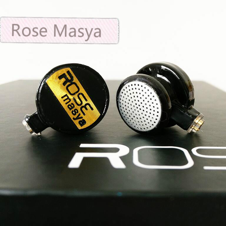 2017 Newest Rose Masya Flat Head Earphone Double Dynamic Earbud HIFI Monitor Earbud Earphone With 2-pin Interface Fone De Ouvido