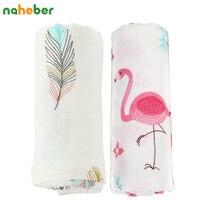 2pcs Set Baby Blanket Bamboo Cotton Muslin Baby Swaddles For Newborns Double Layer Gauze Bath Towel