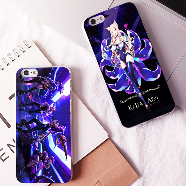 KDA POP STARS LOL new single hard phone case cover for Samsung s8 s9plus S6 S7Edge S5 for iPhone 7 6s 8plus 5s 5c X XS XR XSMAX 2
