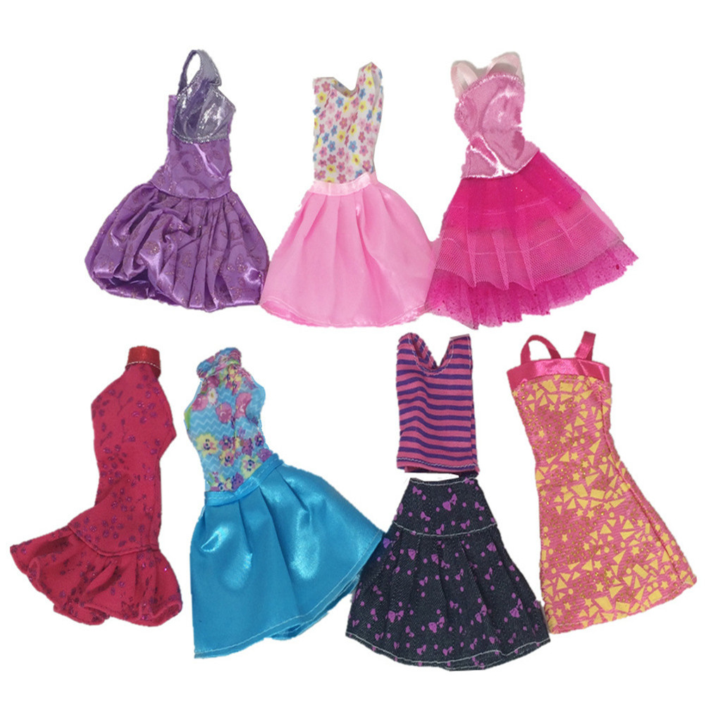 8Pcs/set Fashion Clothes Casual Party Dress Suits For Doll Best Gift Baby Toy Doll Clothing Sets Randomly Pick Hot Sell