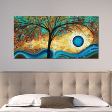 American Abstract Rich Tree Canvas Prints Painting Pictures Wall Art For Living Room Home Decoration Poster And Prints No Frame(China)