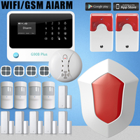 Chuangkesafe GSM WIFI Home Alarm System Free Of Alarm Pushes Through WIFI Network 13x11x3 Size With
