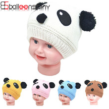 ФОТО cotton cute panda ears baby hat beanie caps crochet headgear sleep infant toddlers bebe lovely hats baby boy girl 0-4 years