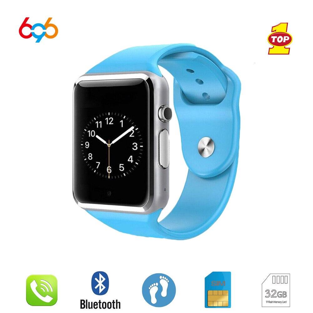 Tüketici Elektroniği'ten Akıllı Saatler'de 696 A1 akıllı saat Pasometre Ile Kamera SIM Kart Çağrı Smartwatch Xiaomi Huawei Telefonu Daha iyi GT08 DZ09 смарт часы title=