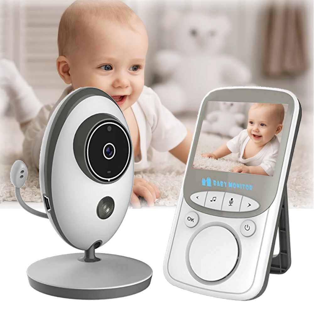 babykam radio nanny baby camera 2.4 inch IR Night Vision Intercom Temperature Sensor Lullabies video nanny baby monitor wireless