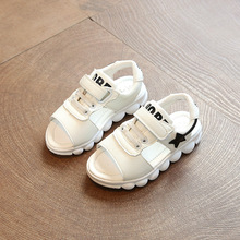 Toddler summer sandals 2017 summer new white fashion five-pointed star casual sports boys and girls beach shoes kids sandals pri