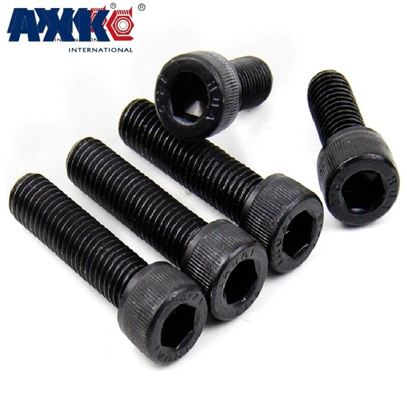M10 M10*1*50/55/60 M10x1x50/55/60 1mm Pitch 12.9 Grade Carbon Steel Full Fine Thread Cap Allen Head Bolt Hexagon Socket Screw цена