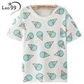 Ice Cream Print T-shirt  2016 New Fashion T shirt Vintage Summer Style Harajuku T Shirt Women Clothing Emoji Funny Tops T-Shirts
