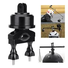 Base de casco de rotación de 360 grados, adaptadores de soporte de varilla, adaptador de montaje para cámara de acción GoPro SJCAM XiaoYi