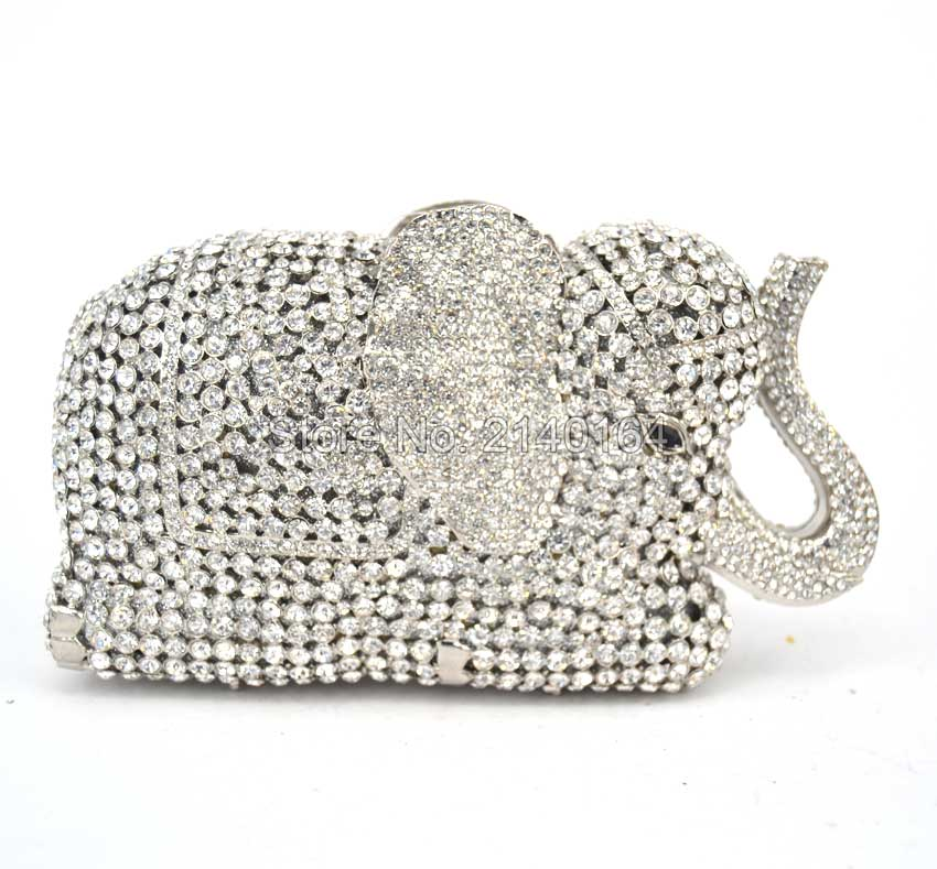 A Bag À b Cristal De Éléphant Dames Parti Mode Animal Strass 8600 Hardcase Date Luxe Diamant Alf evening Bourse Designer c Main Sac Uqpgff