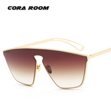 Fashion Rimless Women Sunglasses Vintage Oversize Goggle Glasses Luxury Brand Designer Cat Eye Sun Glasses Female Oculos