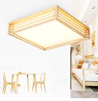 Surface mounted bedroom ceiling light fixture wooden led ceiling lamp Creative simple wood ceiling lamp lampara de techo