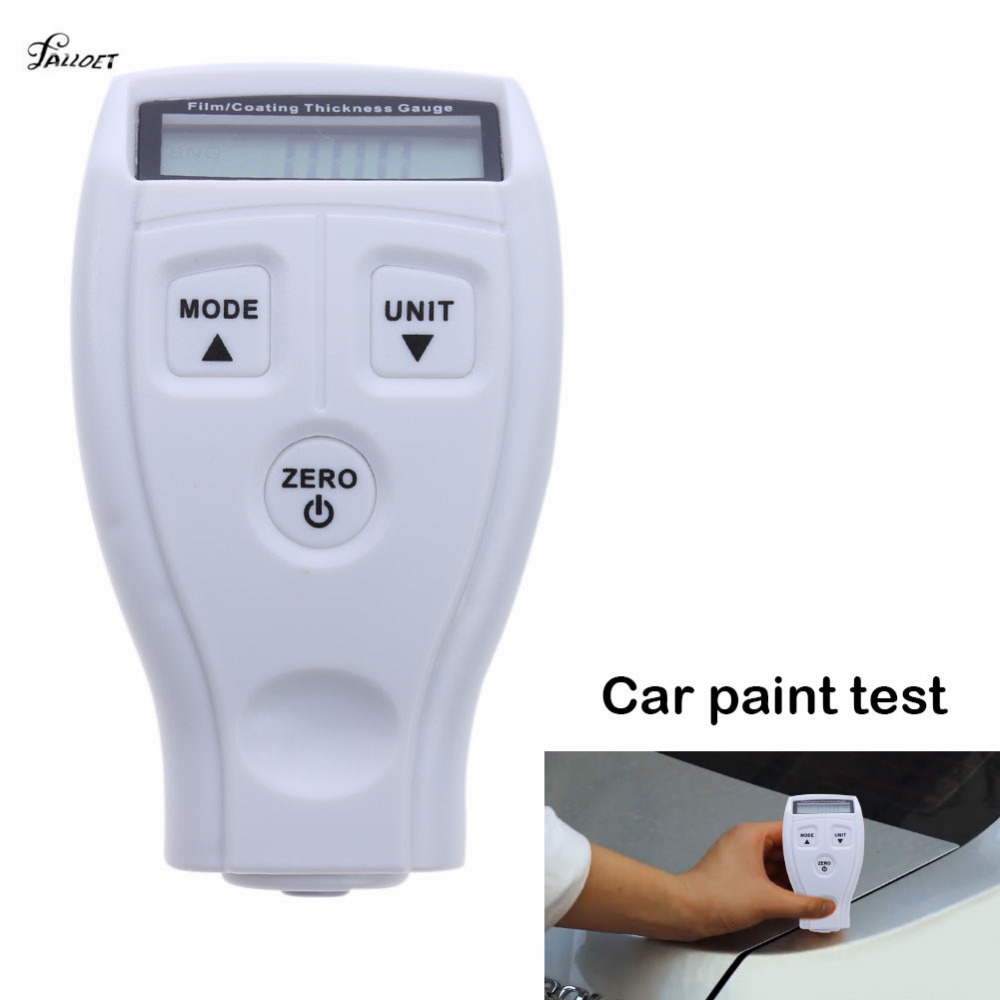 GM200 revestimiento pintura medidor de espesor Tester de película Mini coche pintura medidores de espesor ruso Manual en inglés