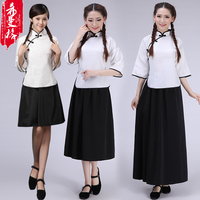 Women S Republic Of China Four Or Four Youth Loaded Cotton Retro Graduation Class Uniforms Costume