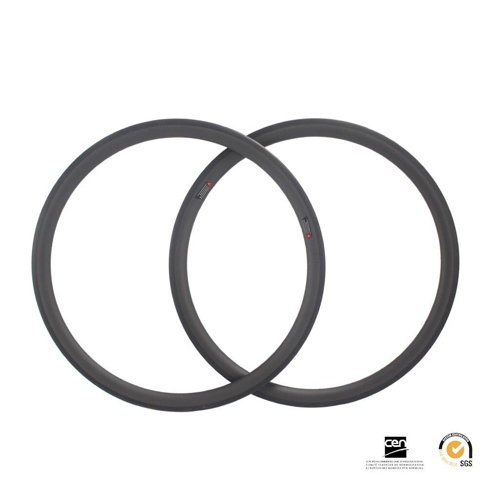 40mm carbone vélo de route jantes pneu tubless 700C piste cyclcross vélo jante 27.25mm largeur