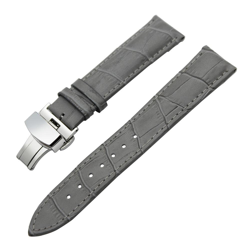 Genuine Leather Watch Band 18mm 19mm 20mm for DW Daniel Wellington Stainless Steel Butterfly Buckle Strap Wrist Belt Bracelet