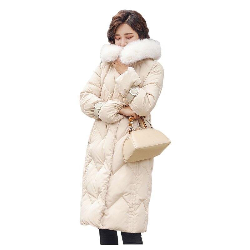 winter jacket women 2019 casual winter Coat women black long Korean Slim women   Parka   2018 casaco feminino jaqueta feminina