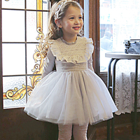 Baby Girl Dress 2017 Spring Autumn Wedding Dress For Kids Cotton Mesh Princess Vestidos Party Pageant