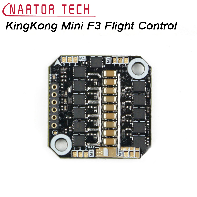 KingKong Mini F3 Flight Control Tower 4 in 1 BLheIS 10A ESC for RC Indoor Brushless FPV Racer Drone Quad sky fly mini f3 flytower flight controller with bs410 4in1 10a esc for indoor mini racer fpv drone