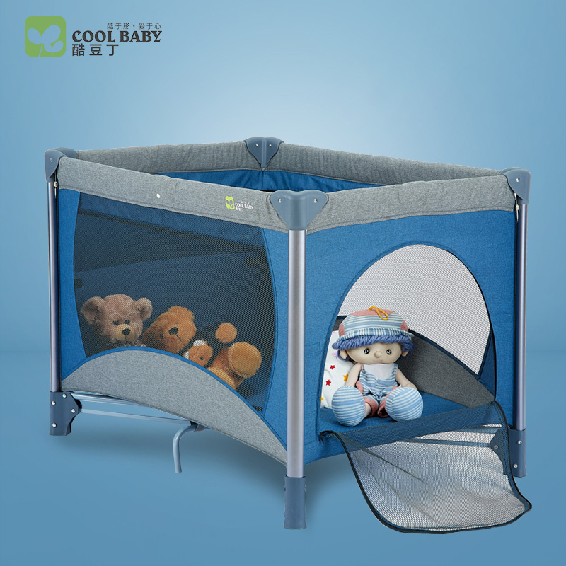 coolbaby Game bed multifunctional folding crib portable bb bed European baby bed child cradle 2017 new fashion simple and versatile small folding cradle bed ultra light portable crib holiday travel essential baby game bed