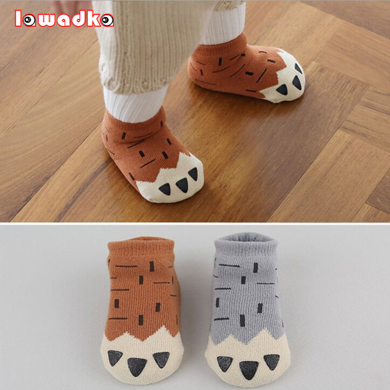 Winter Thick New Born Girls Baby Socks Cotton Casual Meias Infantil Anti Slip Terry Socks Soft