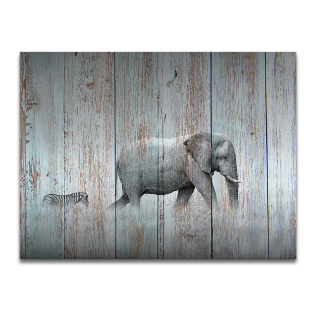 Hd photo canvas prints elephant and zebra painting wood board hd photo canvas prints elephant and zebra painting wood board painting modern home wall decoration altavistaventures Gallery