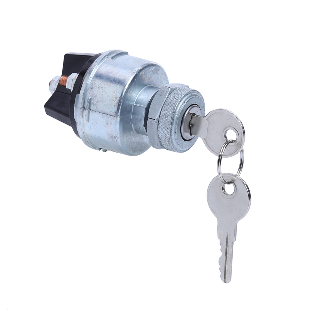 Universal Ignition Starter Switch Barrel With 2 Keys 4 Wiring Point For Car Tractor Traile Engineering Agricultural Vehicle