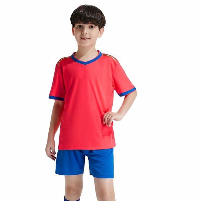 New High Quality Kids Soccer Jerseys Sets Customized Survetement Football Kits Child Futbol Jerseys Training Cheap Uniforms Sets