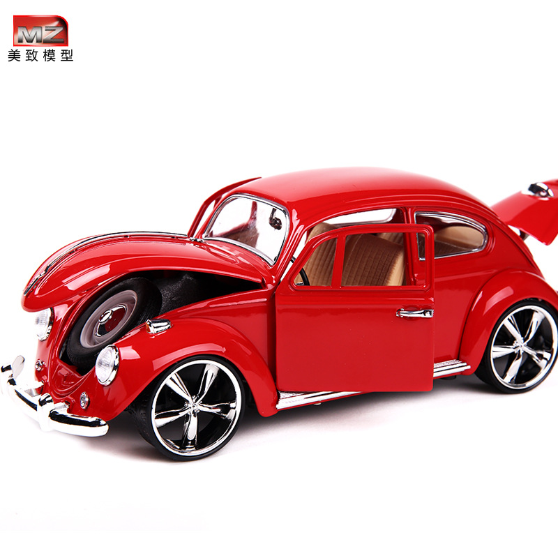 MZ 1:18 Alloy Retro Classic Beetle Car Model Mini  Car Toys Table Decor Model 2010A