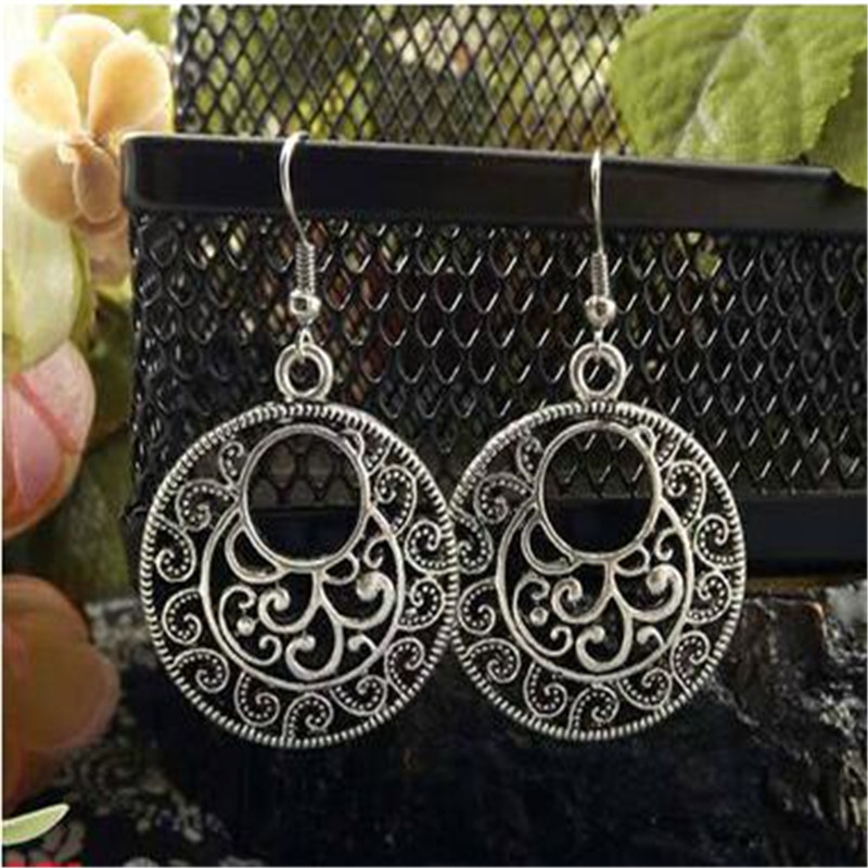 Wholesale Jewelry Europe New Tibetan Silver personalized the stud earrings for women 2015 new Vintage earring