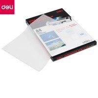 Deli 100sheets Pack Laminating Film Retain Card Film Plastic Retaining Photo Files Protective Film 3816