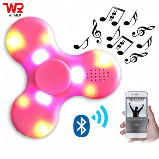 spinner Funny Spinner bluetooth speaker  Flashing lights LED MINI Bluetooth spinner speaker Fingertip Gyro Finger
