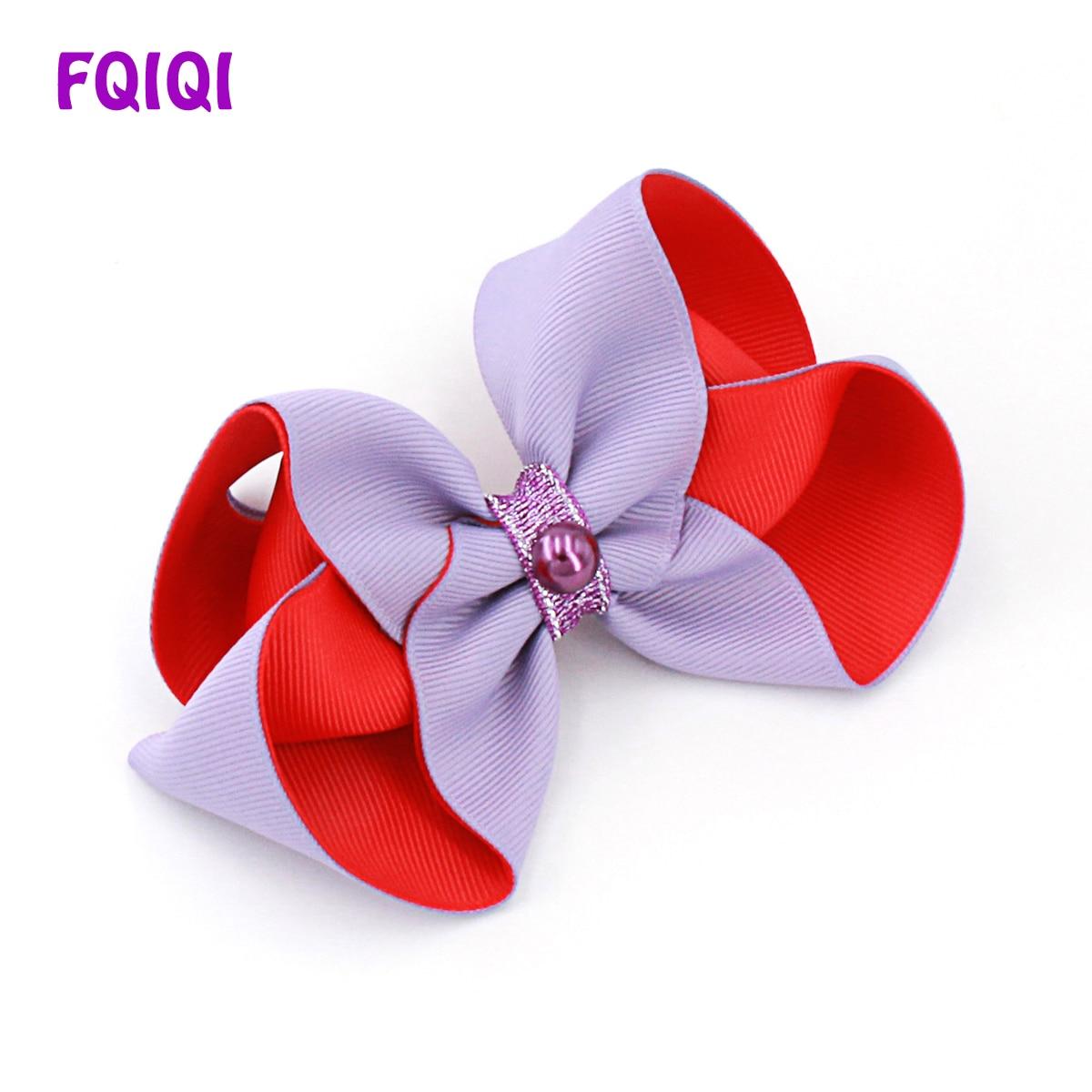 Girls' Accessories Handmade 4 Inch Hair Clip Bow Lilac