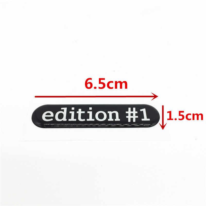 2x 3D etiqueta engomada del coche de edición #1 emblema insignia lado espejo decoración etiqueta para Benz Smart fortwo/cuatro C453/W453 Roadster