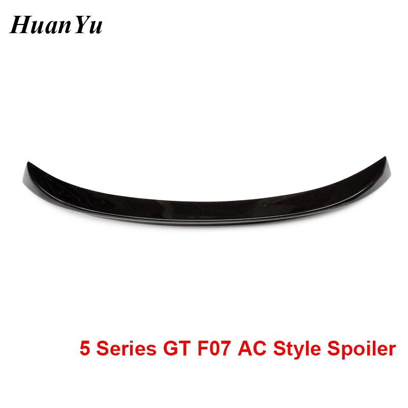 F07 AC Style Rear Trunk Spoiler for BMW 5 Sries GT Gran Turismo Carbon Fiber Boot Lip Ducktail LCI & Pre-LCI 2010-2017 Styling