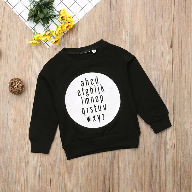 Toddler Newborn Baby Boys Girls Cotton Long Sleeve Top Shirt Sweater Sweatshirts